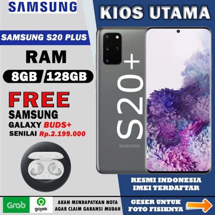 Foto Produk Samsung Galaxy S20+ [8GB/128GB] S20 Plus Cosmic Black Gray Blue White - Biru dari Kios Utama