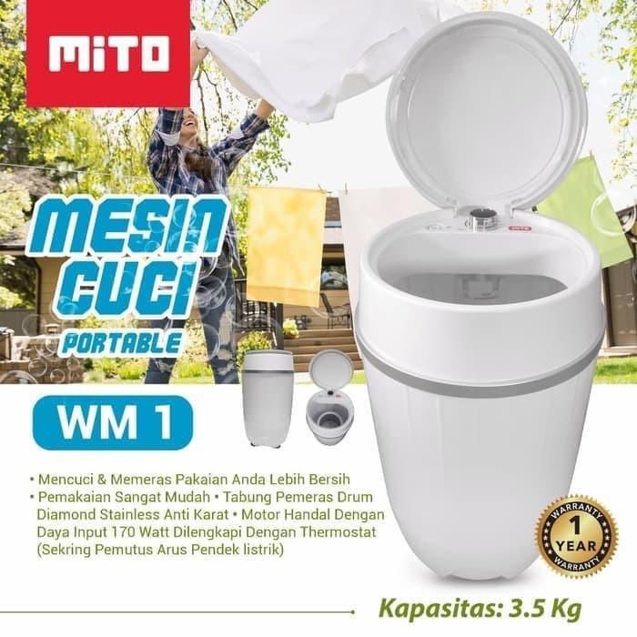 Foto Produk Mito Mesin Cuci Portable WM1 Kuat Hemat Ekonomis Murah Ringan dari Pink Polka