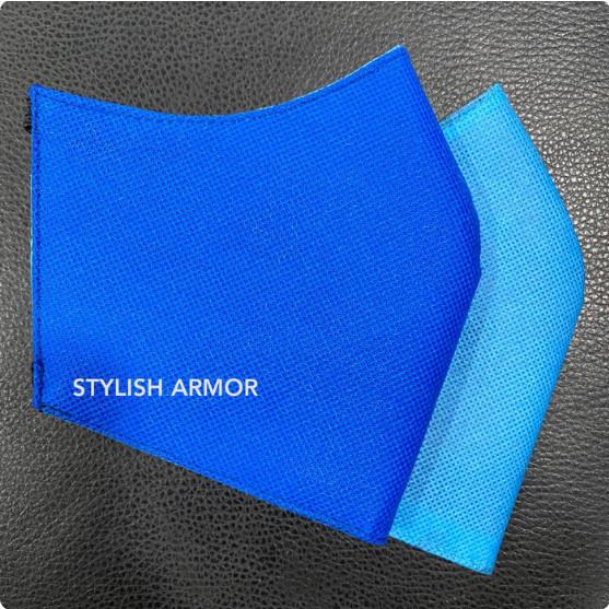 Foto Produk Masker Stylish Armor Silver Antimicrobial 3ply Earloop n Headloop - Biru, M dari STYLISH ARMOR
