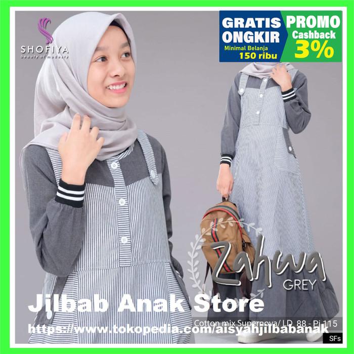 Jual Model Baju Gamis Anak Remaja Terbaru Zahwa 8 9 10 11 12 13 14 15 Tahun Abu Abu All Size Kab Cirebon Jilbab Anak Store Tokopedia