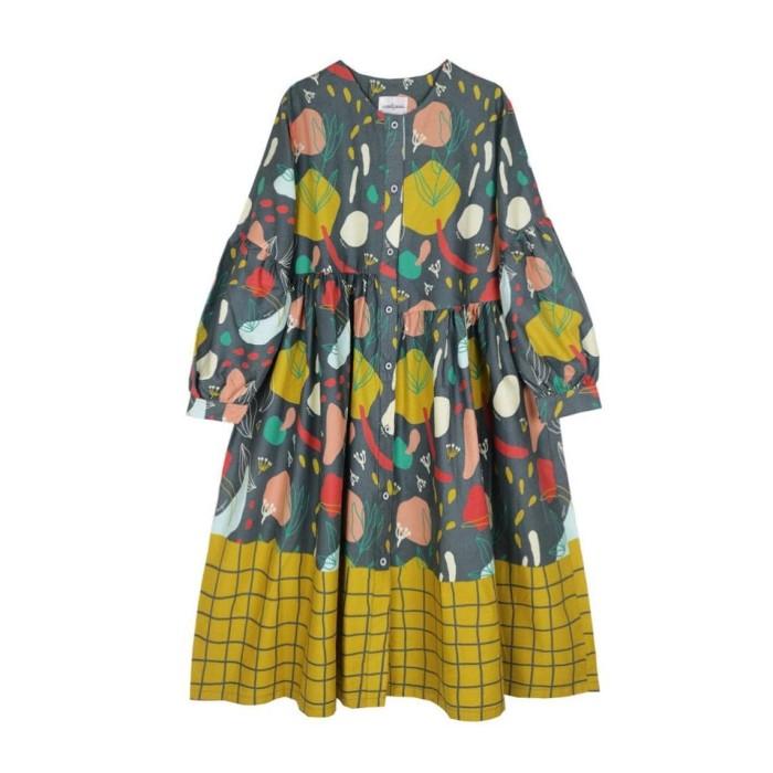 Foto Produk Nadjani - Dress Tine Poplin - Drak Grey dari Nadjani
