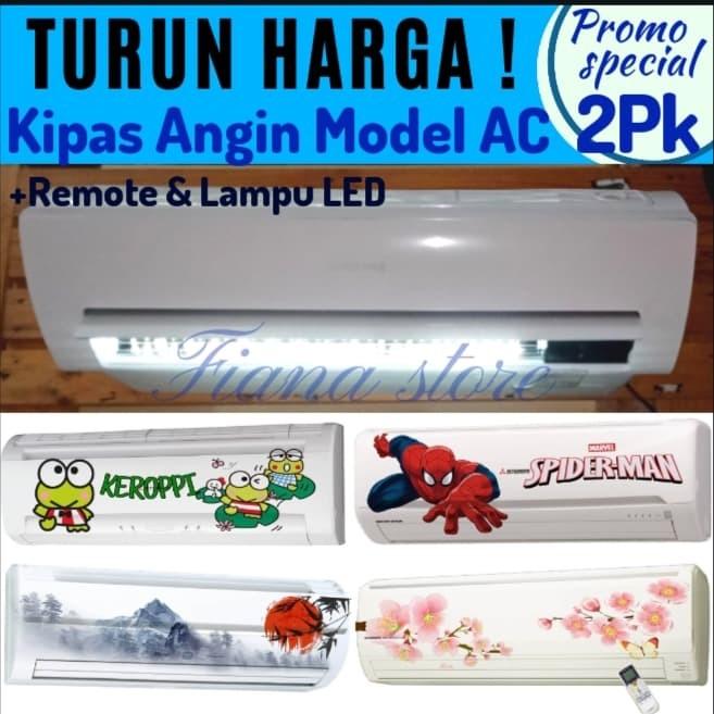Jual Kipas Angin AC 2pk FREE MOTIF ANIMASI - Kota Bekasi