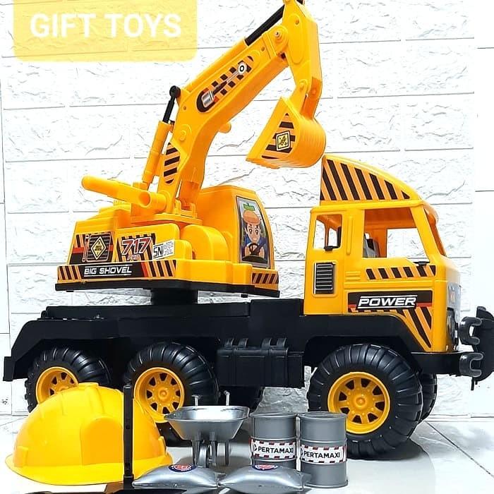 Jual Truck Excavator Besar Plus Helm Mobil Mobilan Anak Mdk717 Jakarta Utara Gift Toys Tokopedia