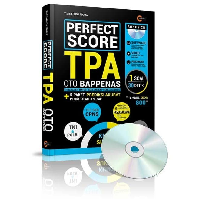 Foto Produk Perfect Score TPA OTO Bappenas - Tim Garuda Eduka - CMedia dari Republik Fiksi