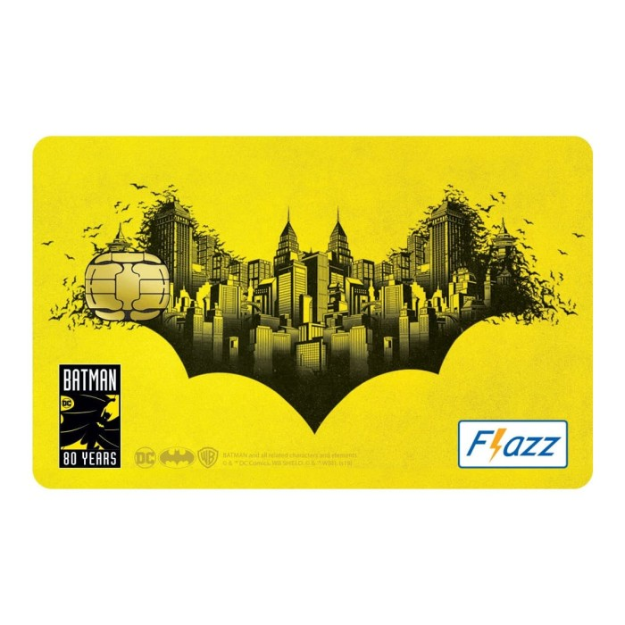 Foto Produk Kartu Flazz Limited Edition Batman Kuning dari Flazz Official Shop