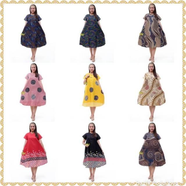 Foto Produk Dress Klok Batik NEW motif sembilan 78.000 - All Size LD +-100 cm - dari aeleshag