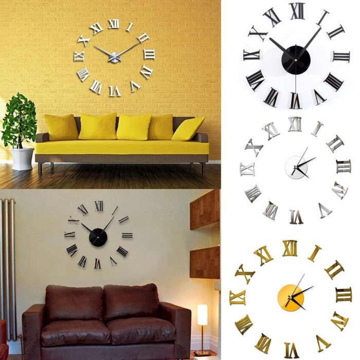 Jual Ly Mural Art Office Room Modern Home Decor Wall Clock Kab Bogor Social Bandung Tokopedia