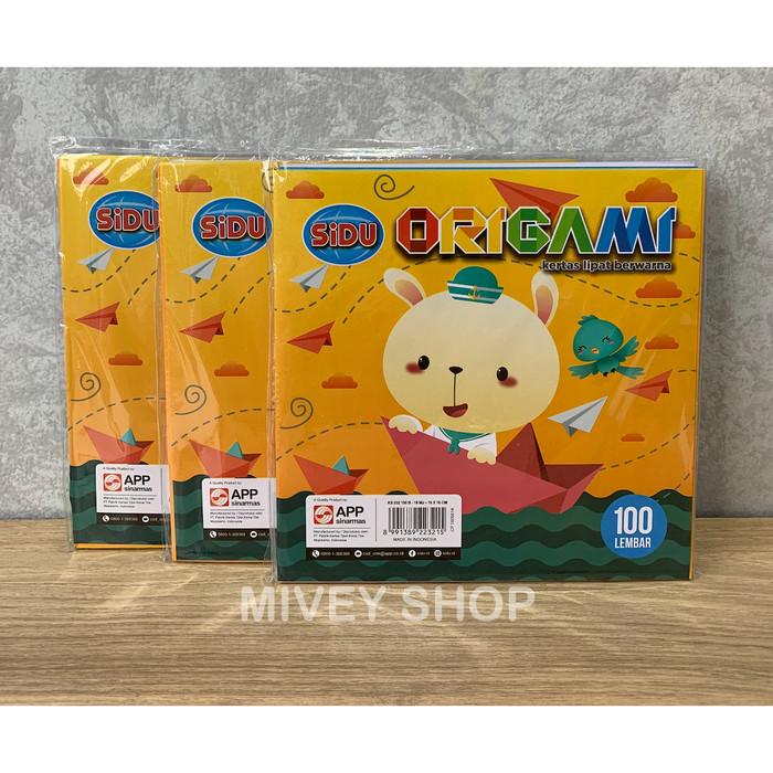 Foto Produk Kertas Lipat Origami Sidu 16x16 cm Isi 100 Lembar dari Mivey Shop