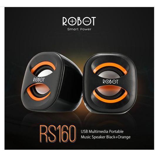 Foto Produk Robot speaker mini portable RS160 for PC laptop & smart phone original - Hitam dari vivan storee