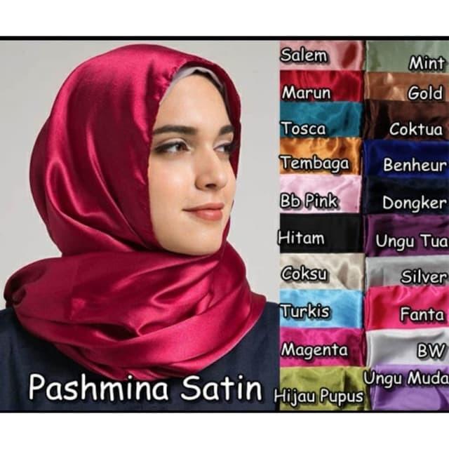 Jual Hijab Pashmina Satin Velvet Maxmara Polos Jilbab Murah Muslim Wanita Pink Jakarta Barat Rantaupuri Store Tokopedia