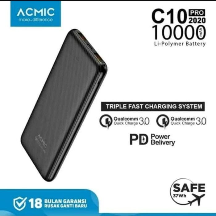 Foto Produk Powerbank Acmic C10 PRO 3.0 Power Delivery dari DigitalE-