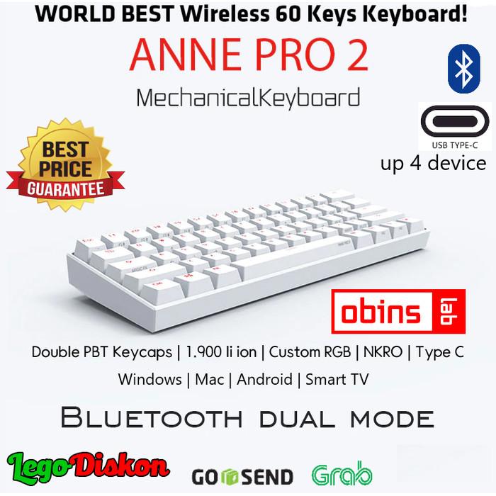 Jual Anne Pro 2 Wireless Bluetooth Mechanical Keyboard Rgb Type C 4 Device Kota Tangerang Selatan Legodiskon Tokopedia