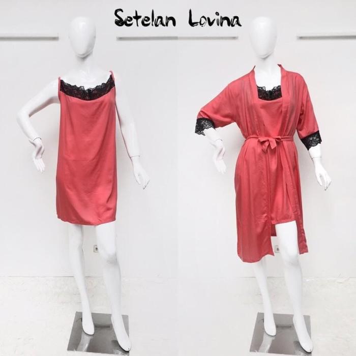 Foto Produk Setelan Lovina by Daster Fifi - Merah Muda dari Mabel's shop