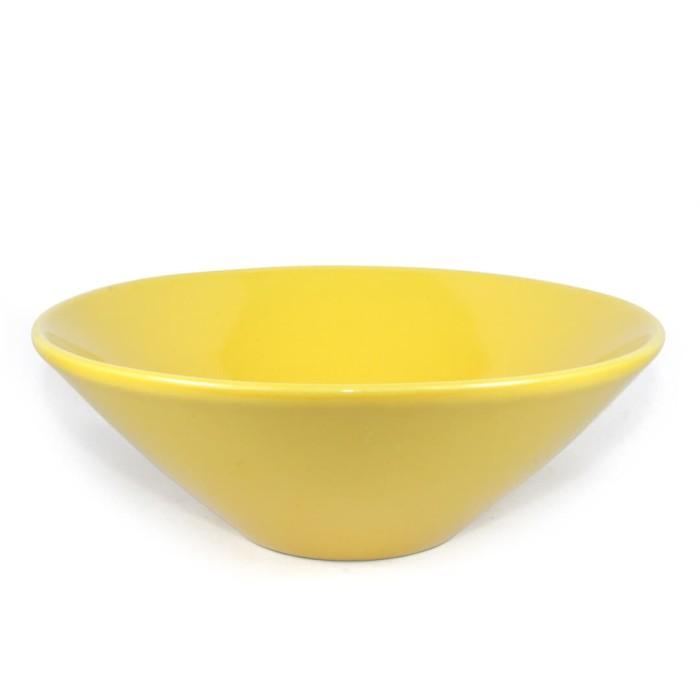 Foto Produk Artisan Ceramic | Yellow Glossy Bowl| Mangkok Keramik dari Artisan Ceramic