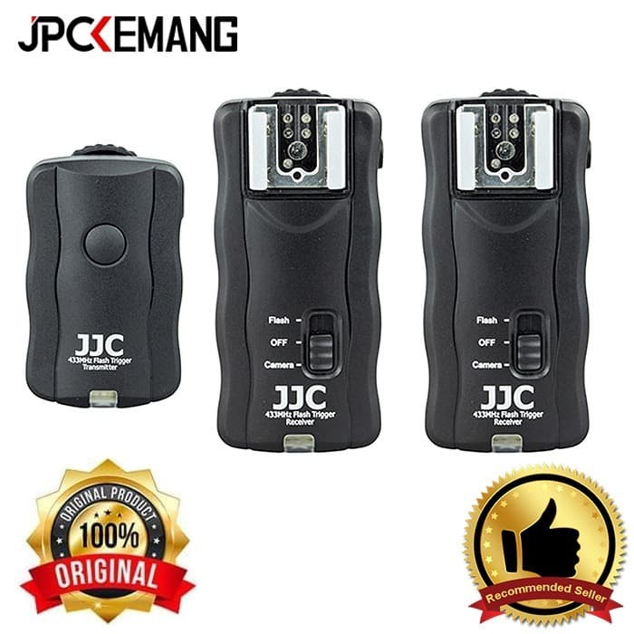 Foto Produk JJC JF-U2 Wireless Flash Trigger Remote (1 Transmitter & 2 Receivers) dari JPCKemang