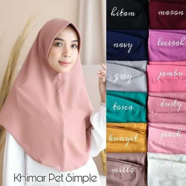 Jual Jilbab Khimar Pet Simple Antem Hijab Instan Wolfis Murah Kab Bogor Excellent Mart Tokopedia