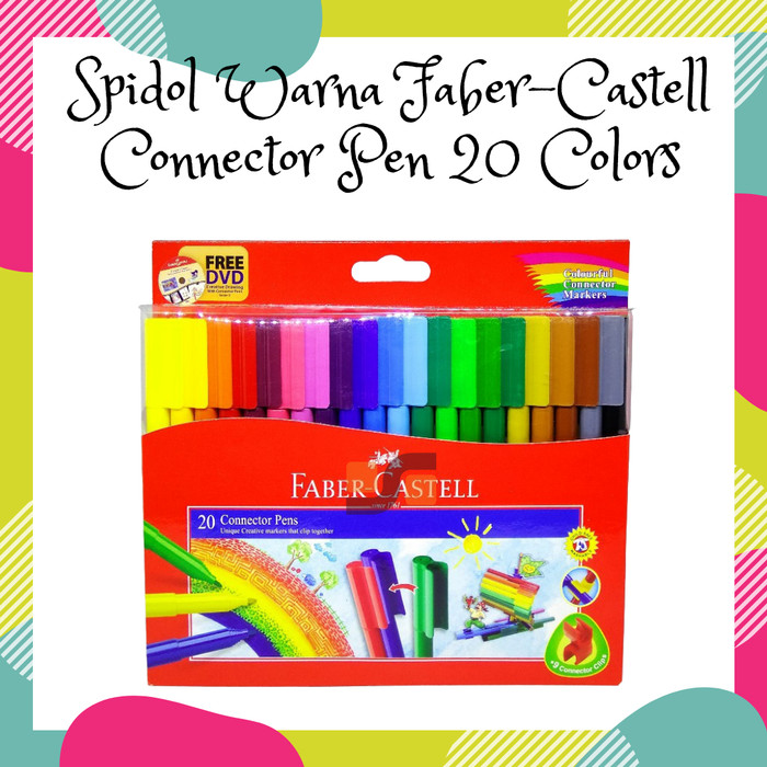 Foto Produk Spidol Warna Faber-Castell Connector Pen 20 Colors dari safanabiz