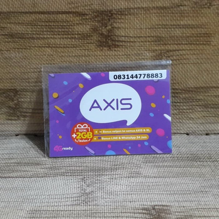 Foto Produk Nomor Cantik Axis 4477 8883 Kartu Perdana Axis 4G Ready 30 Nov 2020 dari idStoreplus