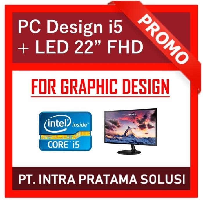 """Foto Produk PC Design / Gaming Lengkap (i5 + 8GB + SSD + Nvidia GT730 + LED 22"""") dari PT. Intra Pratama Solusi"""