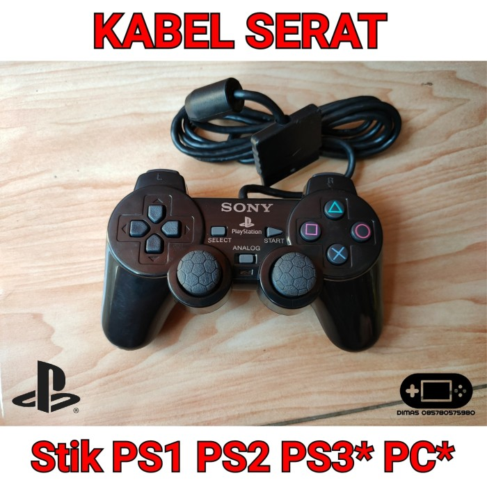 Foto Produk Stik Stick Controller PS1 PS2 PS3 PS One PS 2 PS 3 PC TW GROSIR dari Dimas Retro Game