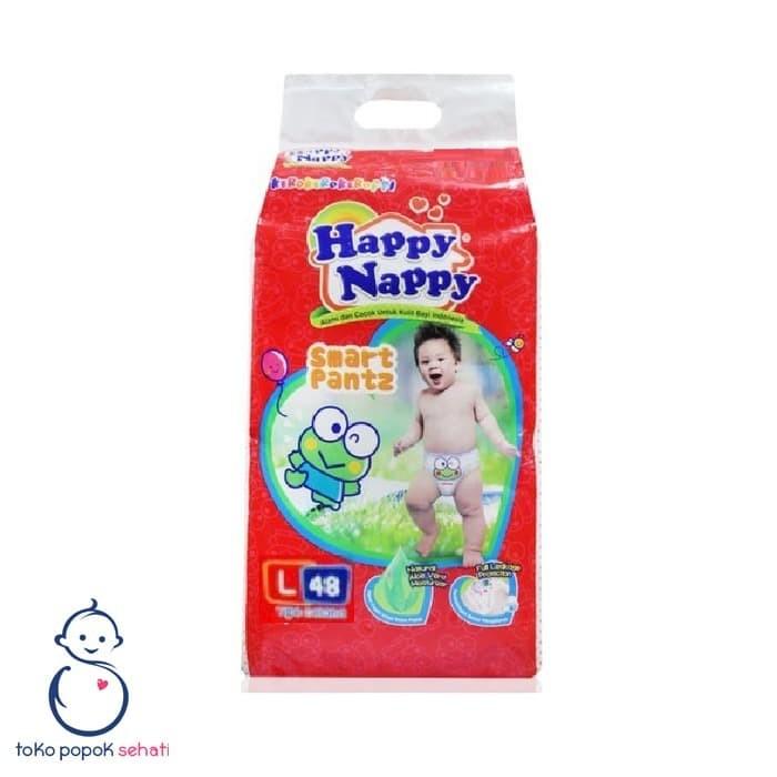 Foto Produk HAPPY NAPPY L48 Popok Celana Bayi L48 L 48 dari TOKO POPOK SEHATI