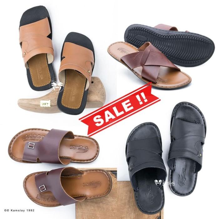 Foto Produk Sandal Slop Pria Kulit Sapi Asli Premium 1212 dari KAMSLAY Since 1992
