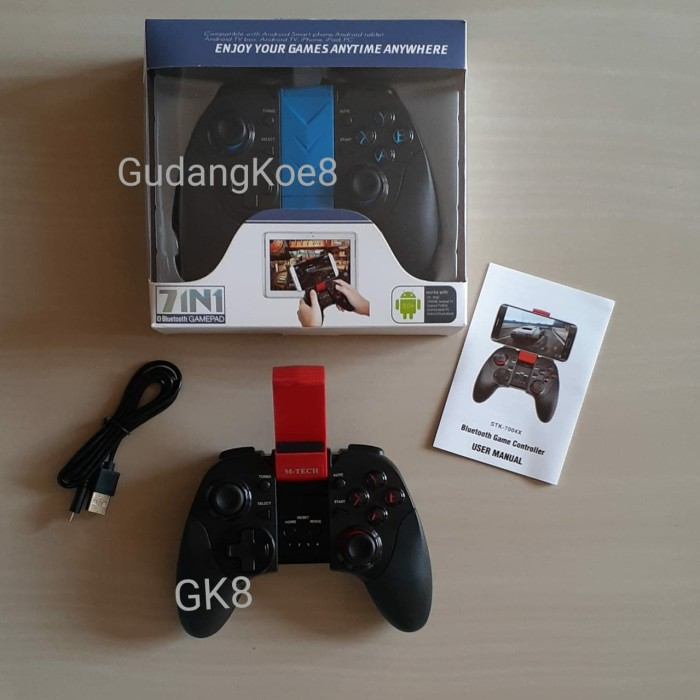 Foto Produk Stik gamepad HP stick Android X3 Bluetooth with bracket holder dari GudangKoe8