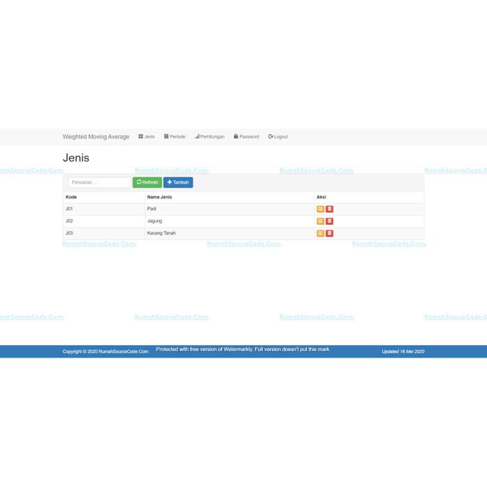 Foto Produk Source Code Forecasting Metode Weighted Moving Average PHP dari Rumah Source Code
