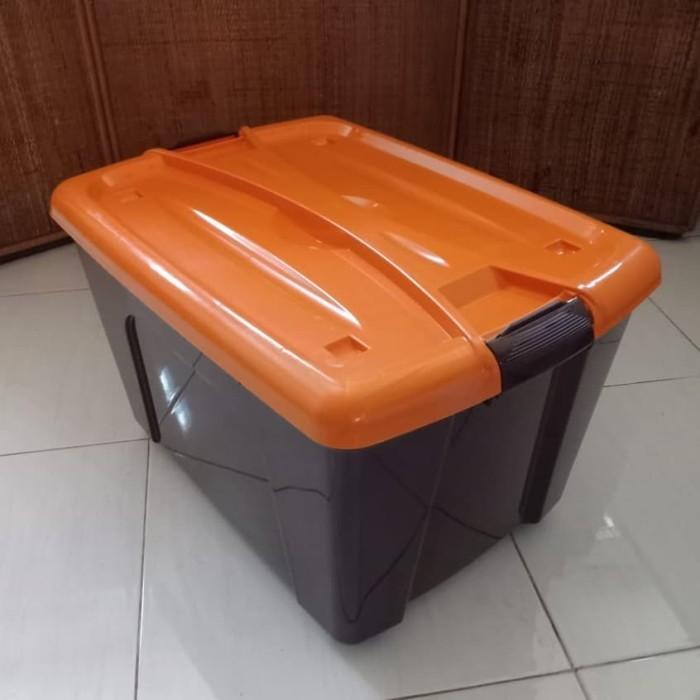 Foto Produk Box Container Dgn Roda 50 Liter (Coklat) / Box Container 50L dari secretbasesby