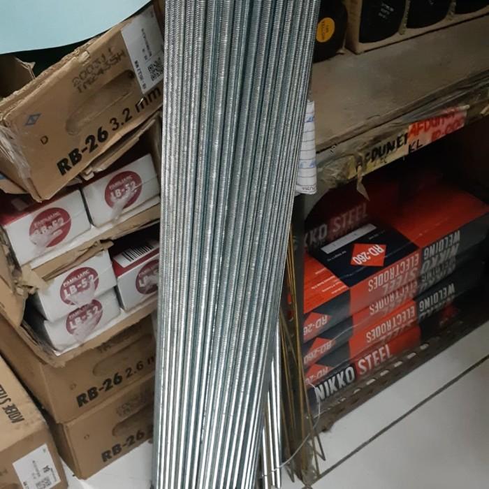 Foto Produk Longdrat Long drat AS Drat 6mm M6 1m Putih dari toko Bangunan Makmur