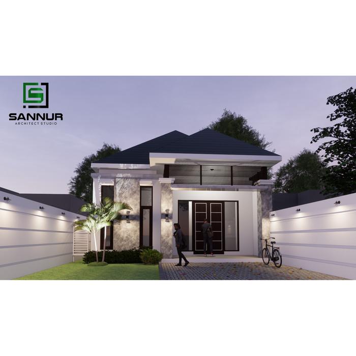 Jual Produk Jadi Desain Rumah Minimalis 1 Lantai Ukuran 9x13 Meter Persegi Kab Kediri Sannur Arsitek Tokopedia