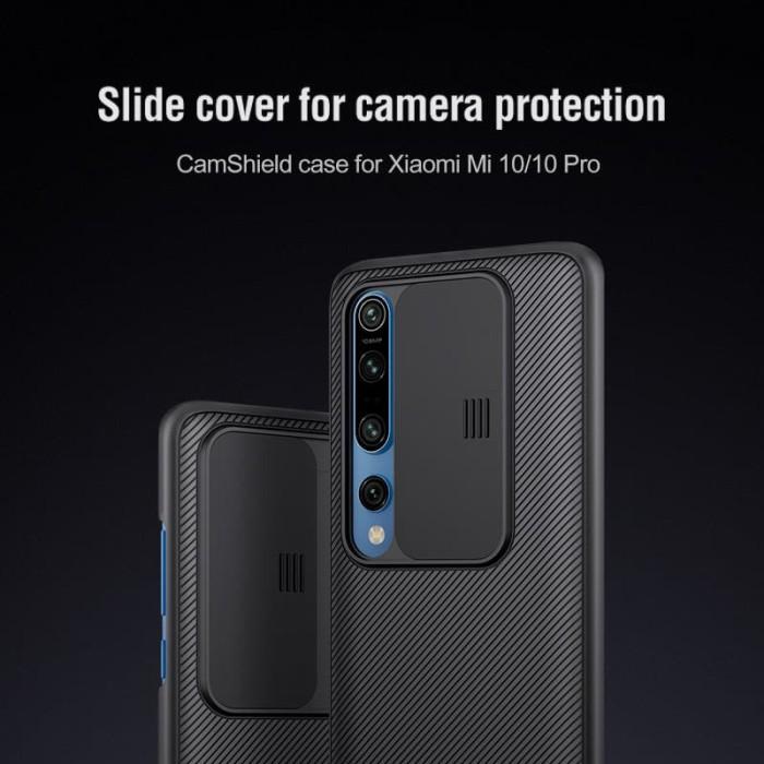 Foto Produk Case Xiaomi Mi 10 / Mi10 Pro Nillkin CamShield - Hitam dari unomax