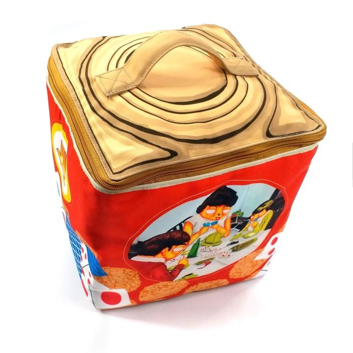 Jual Lunch Box Kaleng Rengginang Keluarga main Gaple ...