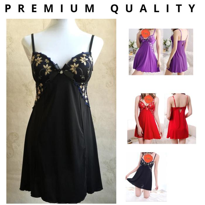 Foto Produk Black Shelie Sexy Nightdress Lingerie +Gstring (Busa Berkawat) - Hitam - Gold dari Ladies Night