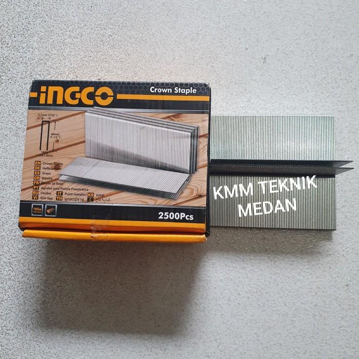 Foto Produk GA18 INGCO PAKU STAPLES U X 40MM 4CM AIR NAILER NAIL 2500 PCS 5.7MM dari KMM Teknik