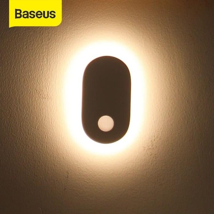 Foto Produk BASEUS SUNSHINE ENTRANCE INDUCTION LIGHT LAMPU DINDING TIDUR SENSOR dari GADVENTIA Official Store