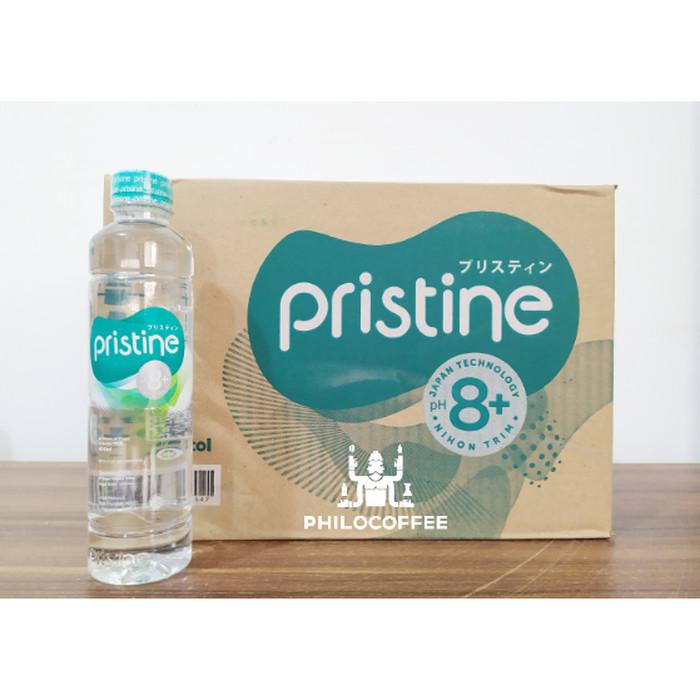 Foto Produk Pristine Water 8+ 600ml | Khusus Gojek | Air Mineral (24 botol/dus) dari Philocoffee