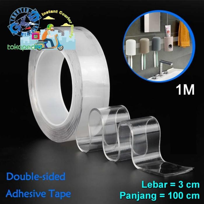 Jual Gm 3x100cm Nano Magic Double Tape Bening Tahan Air Acrylic Washable Jakarta Pusat Gks Tokopedia