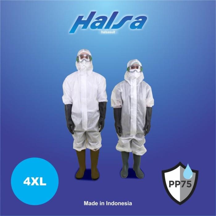 Foto Produk Baju APD Medis 4XL HALSA Suit HAZMAT PPE Coverall Spunbond 75gsm dari WWW.SERAGAM.ID