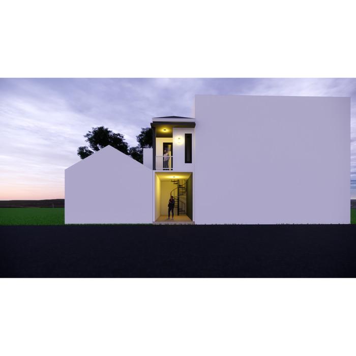 Foto Produk Produk Jadi Desain Kantor 2 lantai ukuran 2,8 x 6 meter dari Sannur Arsitek