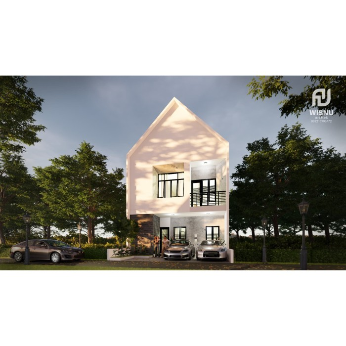 Foto Produk Produk Jadi Desain Rumah minimalis tropis 2 lantai ukuran 8x13 meter dari Sannur Arsitek