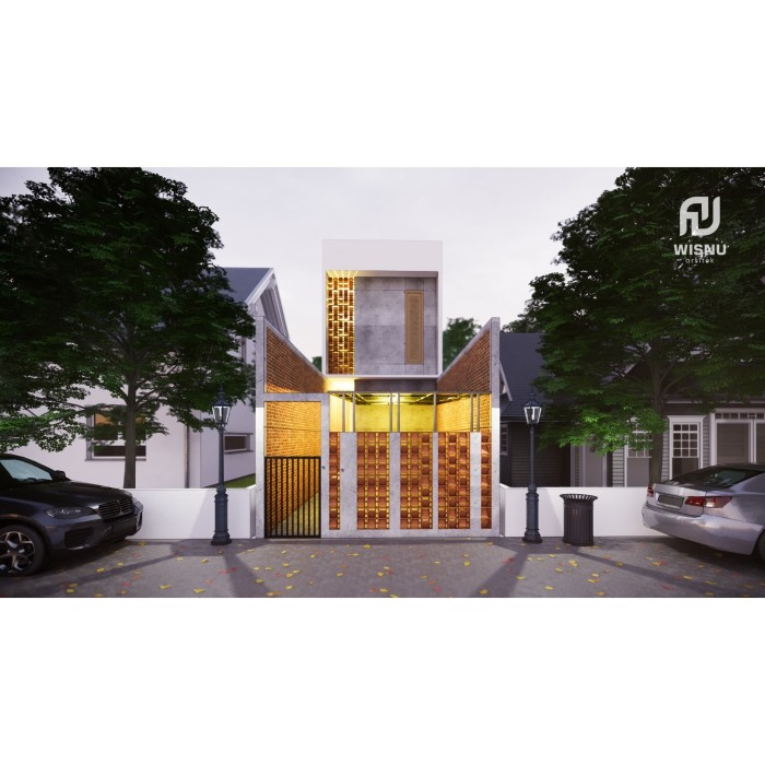 Foto Produk Produk Jadi Desain kos-kosan minimalis 2 lantai ukuran 4,7 x15 meter dari Sannur Arsitek