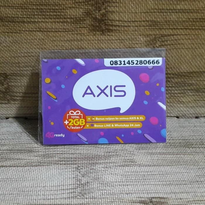 Foto Produk Nomor Cantik Axis 45 280 666 Kartu Perdana Axis 4G Ready 30 Nov 2020 dari idStoreplus