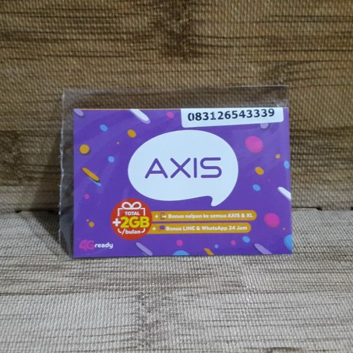 Foto Produk Nomor Cantik Axis 2654 3339 Kartu Perdana Axis 4G Ready 30 Nov 2020 dari idStoreplus