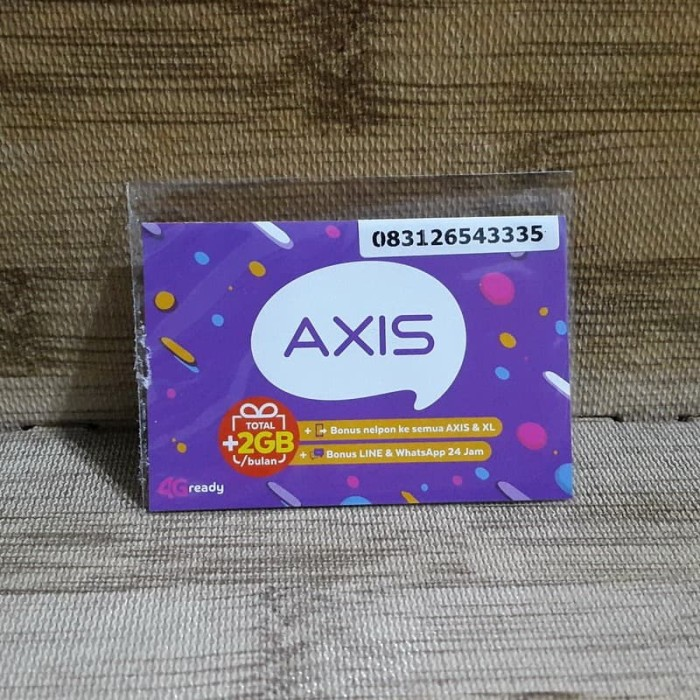 Foto Produk Nomor Cantik Axis 2654 3335 Kartu Perdana Axis 4G Ready 30 Nov 2020 dari idStoreplus
