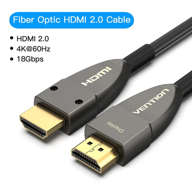 Foto Produk Vention 60M Kabel Active Fiber Optic HDMI Male to Male UHD 4K HDR - HDMI 2.0 AAY dari Vention Indonesia