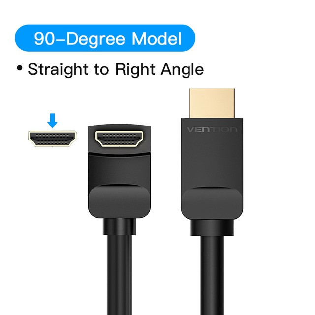Foto Produk Vention 2M HDMI v2.0 Cable 90/270 Degree 4K High-Speed - 90 Degree AAR dari Vention Indonesia