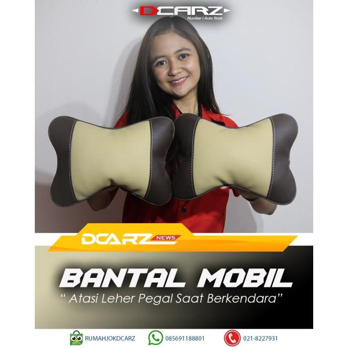Foto Produk Bantal Mobil Kulit Warna Kombinasi Cream Coklat dari RUMAH JOK DCARZ