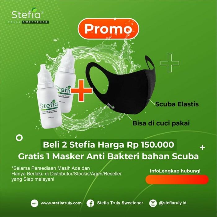 Jual Promosi 2 Botol Stefia Pemanis Alami 15ml Gratis Masker Scuba Jakarta Barat Papaindofam Tokopedia