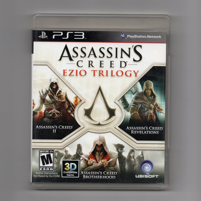 Jual Kaset Bd Ori Ps3 Assassin S Creed Ezio Trilogy Assassins